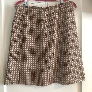 Macy's | brown and mauve wool skirt